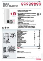 ARISTON – Bomba de calor areotermia Nuos Split Inverter 150 (ficha técnica)