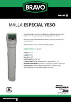 BRAVO – Malla Yeso (Ficha Técnica)