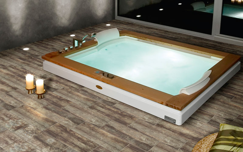 Suelo de azulejos para piscina Natucer legno Antiquo Murcia