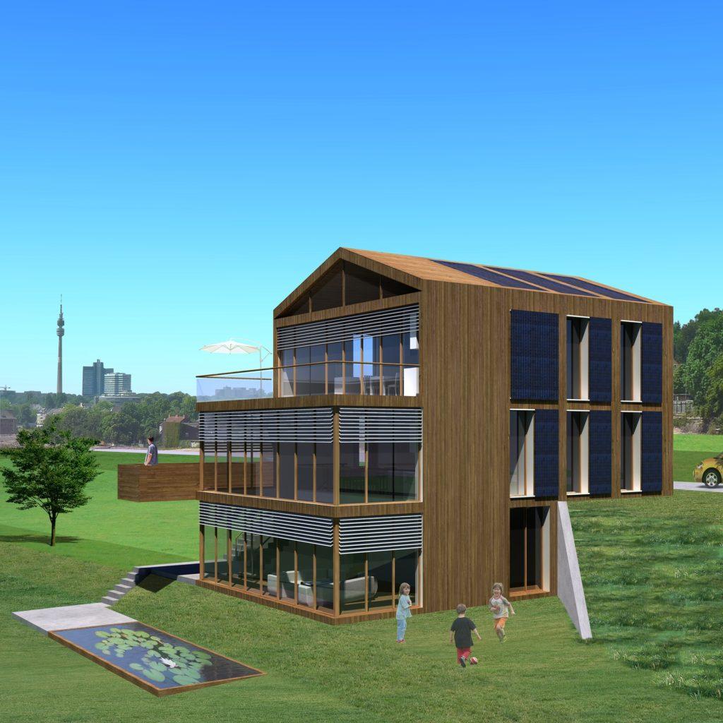 Casa optimizada para construcción bioclimática