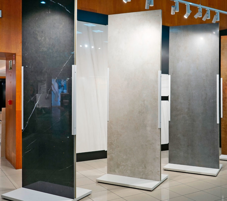 Exposición de azulejo y pavimento porcelánico de gran formato