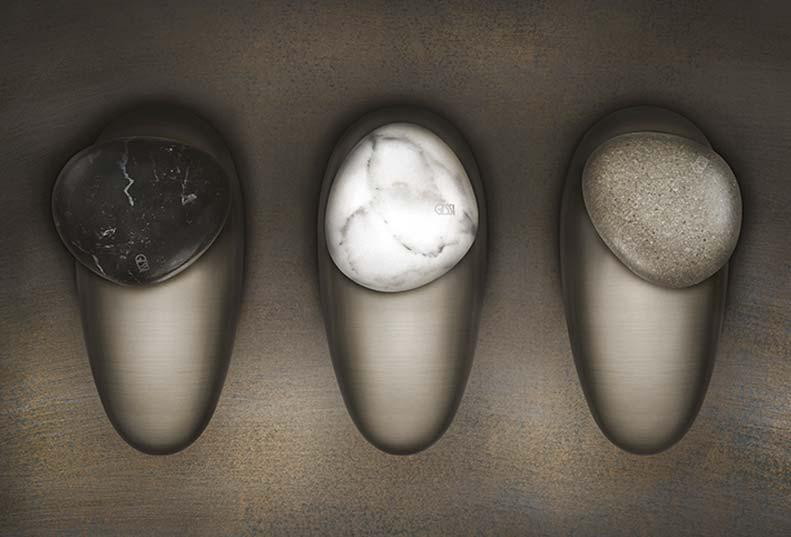 Gessi equilibrio, juego de tres grifos inspirados en la naturaleza